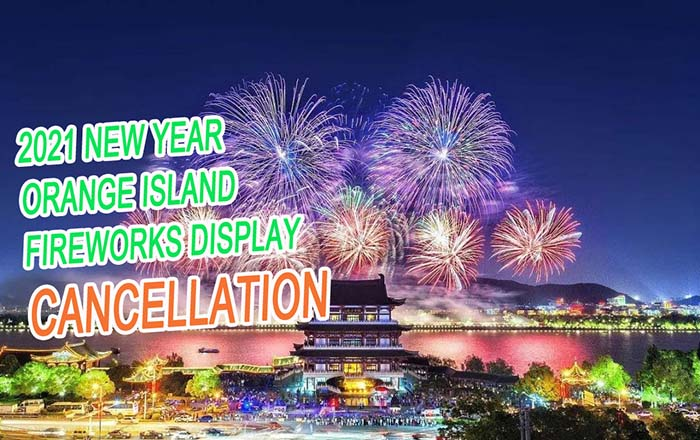The cancellation of the Orange Island fireworks display in 2021