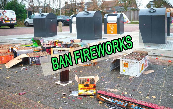 The Netherlands puts a temporary ban on fireworks