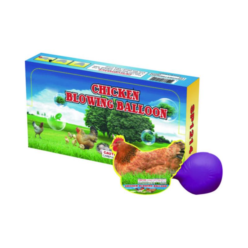 Chicken Blowing Balloon Fireworks