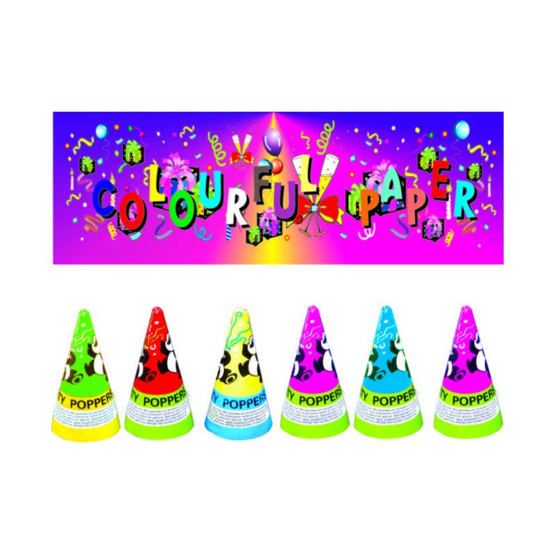 3 Inch Conic Party Popper