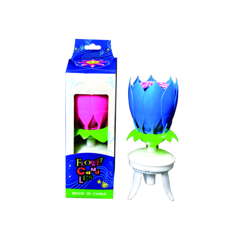 Party Music Flower Candle