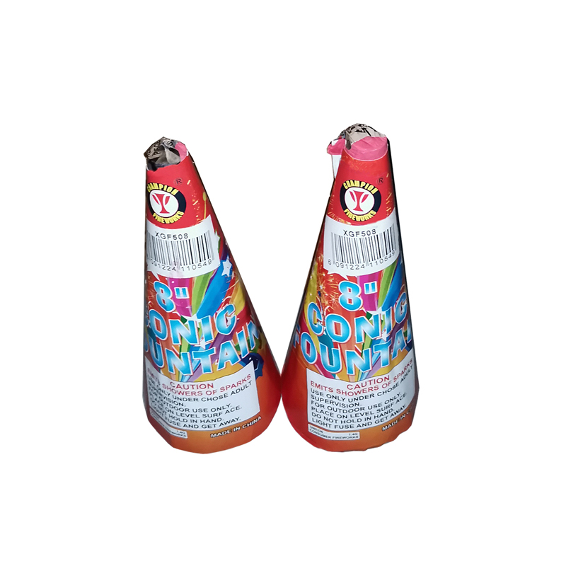 8 Inch Conic Fountain Fireworks