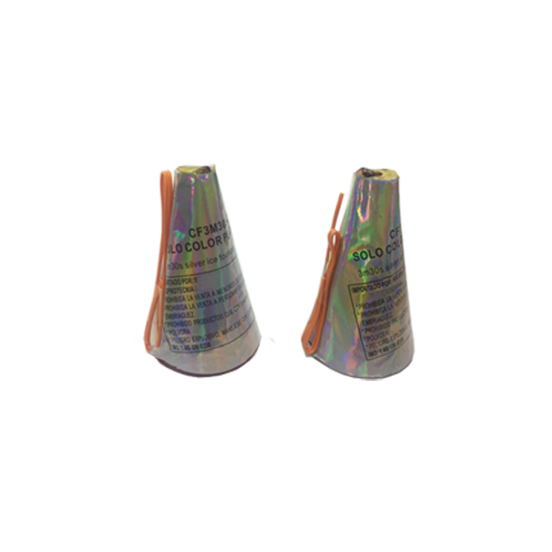 Conic Silver Fountain Fireworks 3M 30S