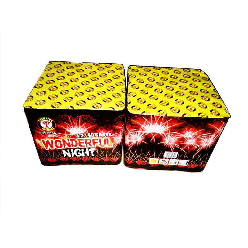 Wonderful Night 49 Shots Cake Fireworks