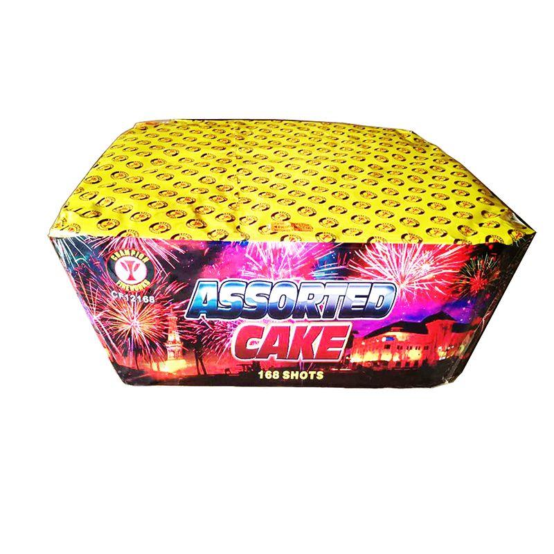 1.2 Inch 168 Shot Assorted Cake Fireworks