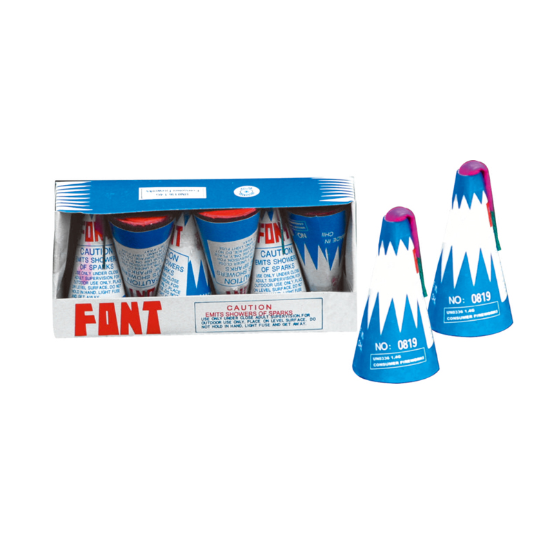 3 Inch Conic Fountain Fireworks