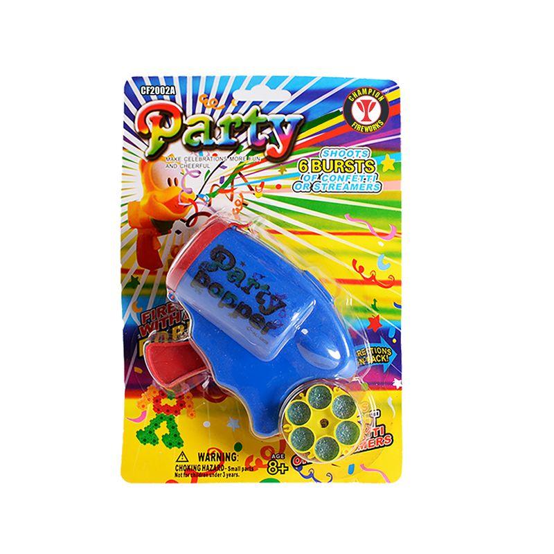 6 Bursts Party Popper Confetti Gun
