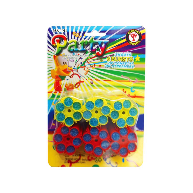 6 Pack Confetti Sky Gun Refills (36 Bursts)