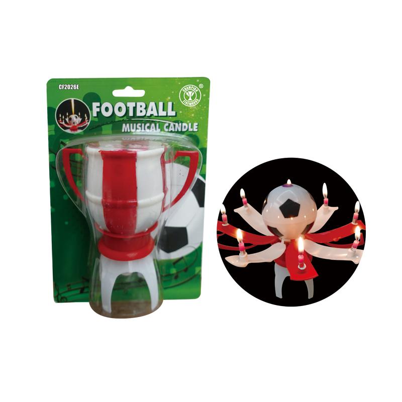 Birthday Celebration Football Musical Candle