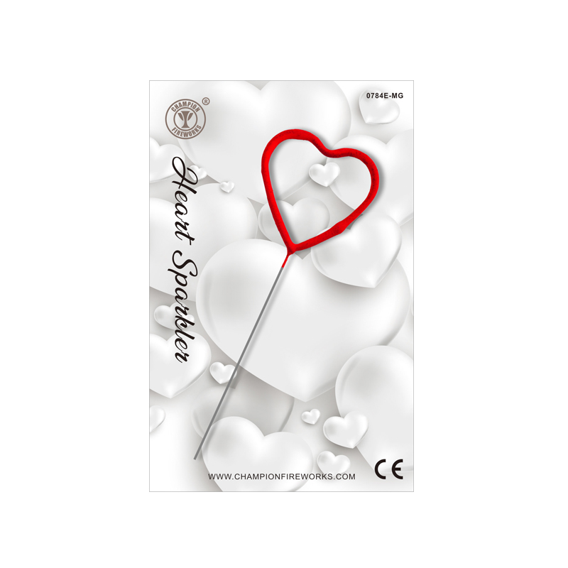Mini Red Heart Sparkler In Gift Card