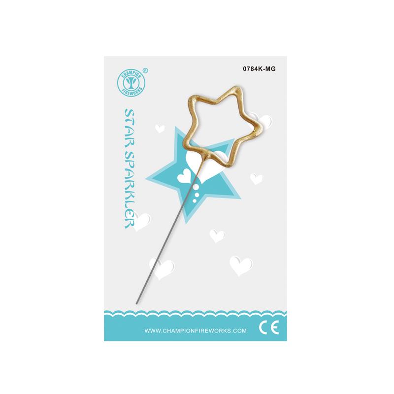 Mini Star Sparkler In Gift Card