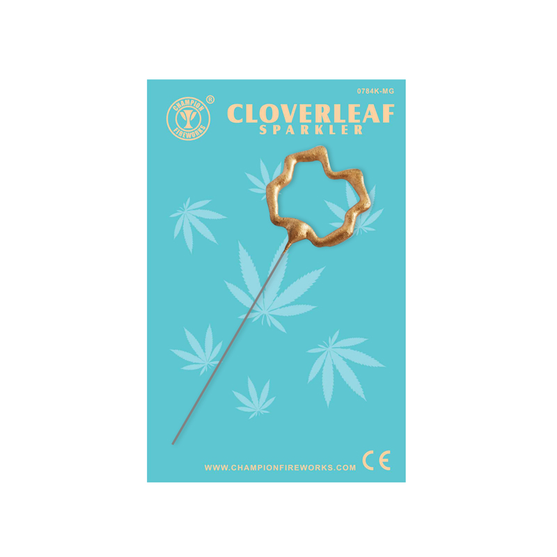 Mini Cloverleaf Sparkler In Gift Card