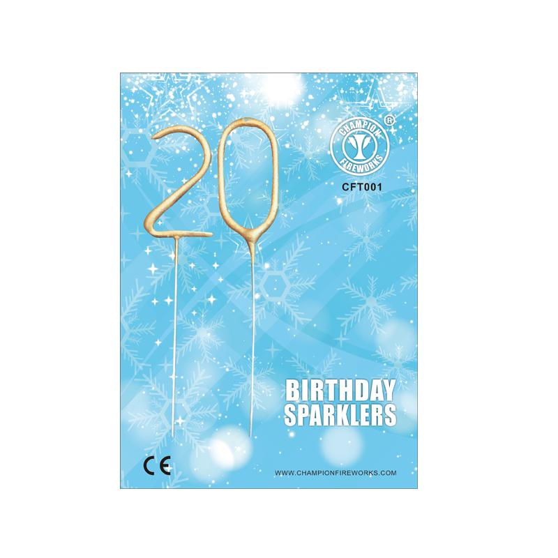 Mini Number Sparkler In Gift Card