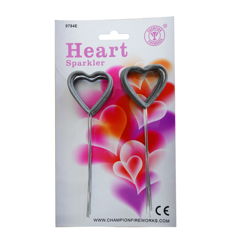 Party Supplies Heart Sparklers 10 Pack