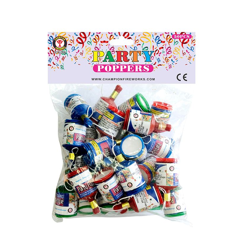 Party Poppers Fireworks 50PK