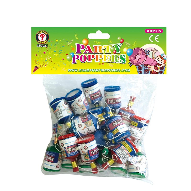 Party Poppers Fireworks 30PK