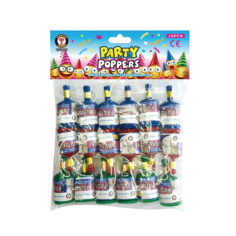 Party Poppers Fireworks 18PK